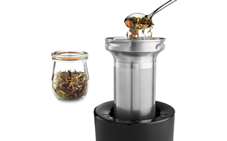 Stainless Steel Tea Steeper with Holder