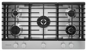 Awesome Stainless Steel 36u0027u0027 5 Burner Gas Cooktop With Griddle KCGS956ESS |  KitchenAid