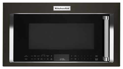 Black Stainless 1000 Watt Convection Microwave Hood Combination Kmhc319ebs Kitchenaid