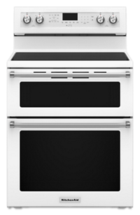 30 Inch 5 Burner Electric Double Oven Convection Range