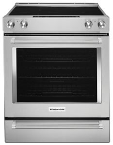 Stainless Steel 30 Inch 5 Element Electric Convection Slide In Range With  Baking Drawer KSEB900ESS | KitchenAid