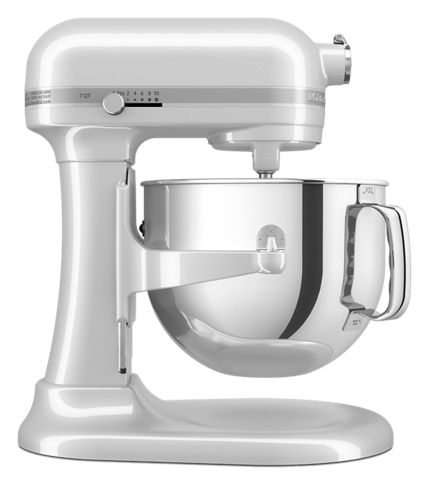 Frosted Pearl White Refurbished 7 Qt Bowl Lift Stand Mixer Rksm7581fp Kitchenaid